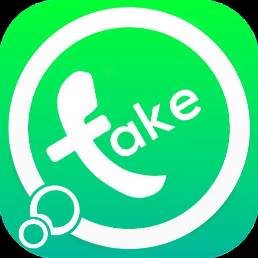 Надпись Fake в логотипе WhatsApp