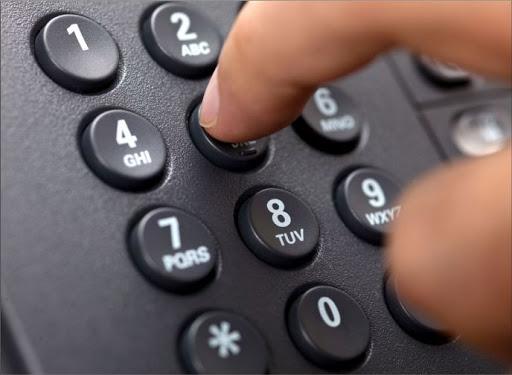 Набор номера на кнопочном телефоне