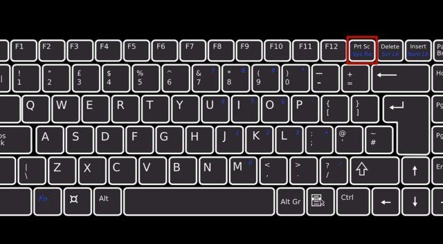 Кнопка Print Screen на клавиатуре ПК