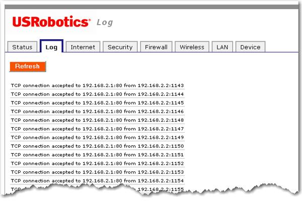 Поиск IP-адресов посещенных страниц через USRobotics