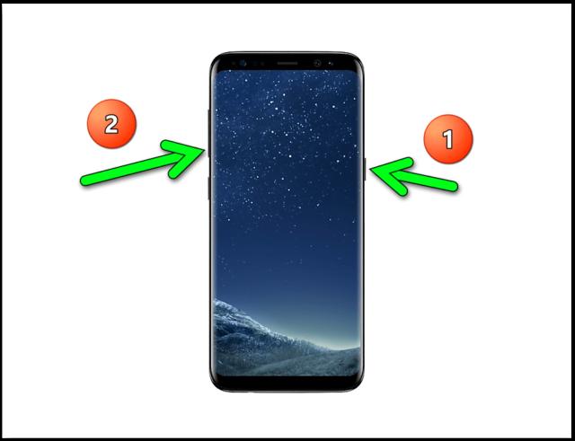Обозначение кнопок для перезагрузки на корпусе смартфона
