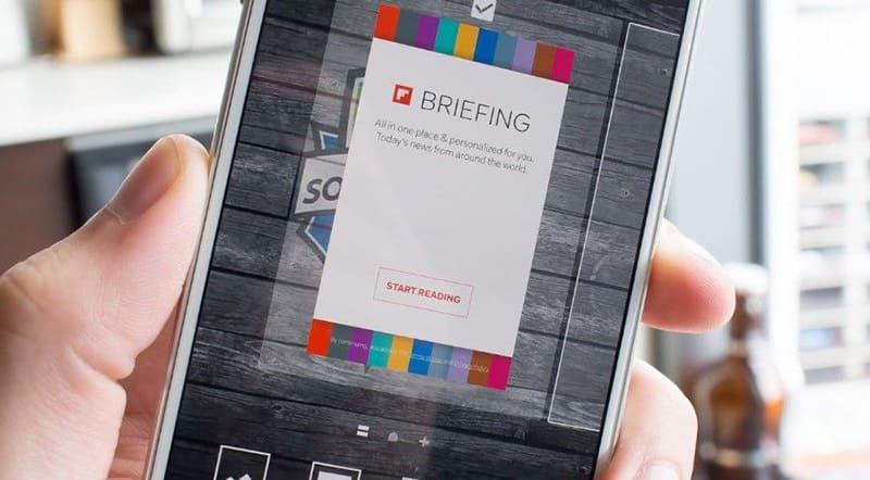 Приложение Briefing в смартфоне