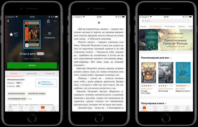 Поэтапная загрузка электронной книги в Айфоне