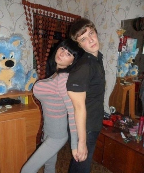 Отфотошопленный снимок пары