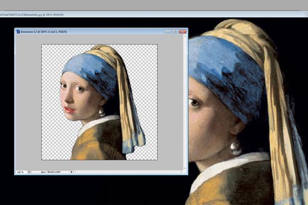 Создание стикера для Телеграм из картины Вермеера