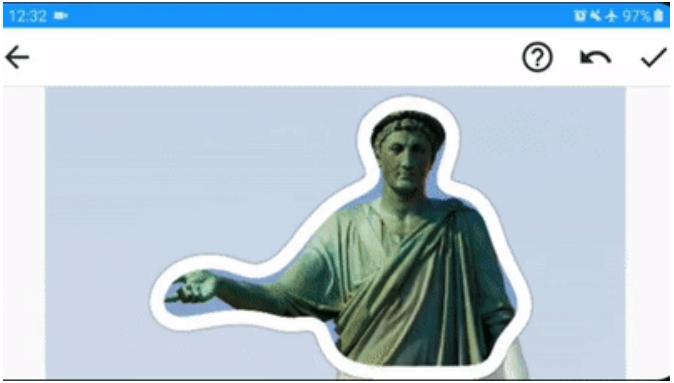 Обводка фигуры при создании стикера в Телеграм