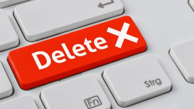 Красная клавиша Delete на клавиатуре