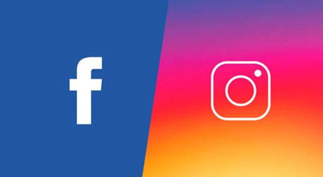 Логотипы Фейсбук и Инстаграм