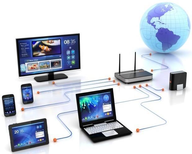 Схема подключения маршрутизатора к ПК и мобильным устройствам