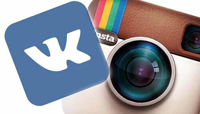 Логотипы ВК и Инстаграм