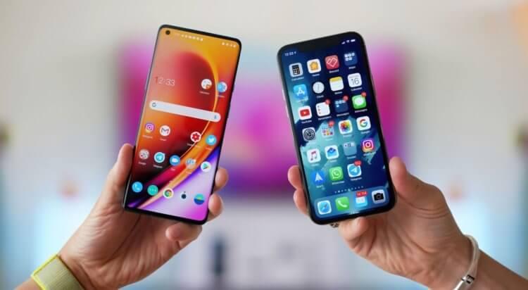 Сравнение экранов разных смартфонов