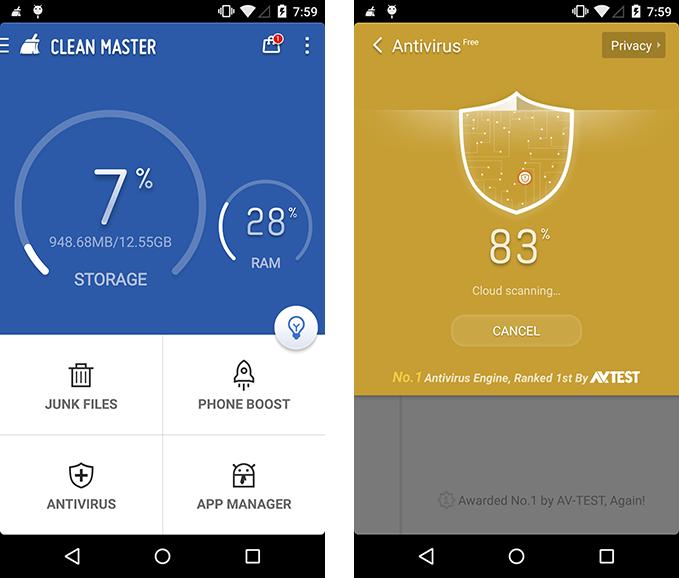 Приложение Clean Master для смартфона