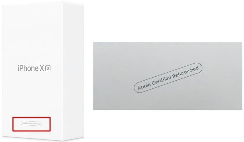 Пометка Refirbished на коробке iPhone