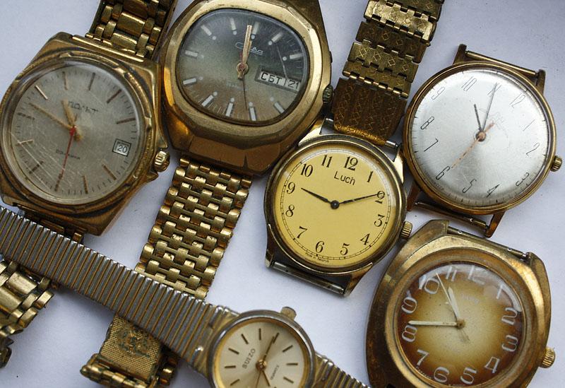 Разные модели советских часов