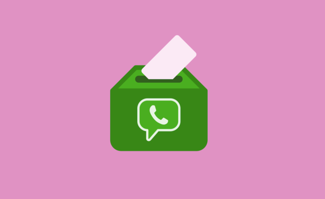 Письмо в ящике с логотипом WhatsApp